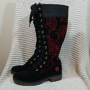 Timberland Lace Up Leather Tall Boot